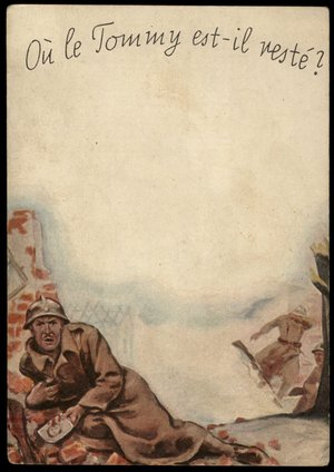 3rd Reich Racy Anti British Tommy Propaganda Card For France 3 Naked Daughter